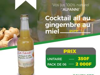 Cocktail au gimgembre au miel